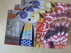 collage - dessin cartes de visite karine Bailly