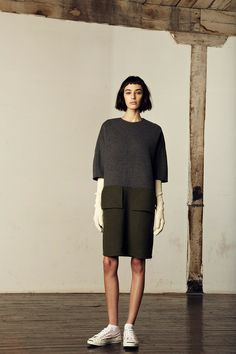 The color blocking of perfect fall hues and the athletic pop with the sneaks from M.Patmos (look 5)