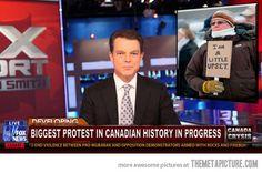 Canadian protest..ohhh canada..lmaolmao
