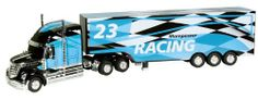"""Kid Galaxy RC Trator Trailer """"Checkered Flag"""" by Kid Galaxy. $48.97. From the Manufacturer                This tough RC hobby style hauler features lights and sound. Drive and control this truck with your own transmitter. Make it turn right and directionals automatically signal the turn. Turn left for the same. Cool LED lights and 18 wheeler style truck sounds add to a full function remote control experience but the real surprise is the detachable and reattachable trailer via y..."""