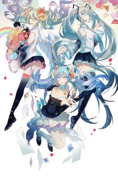 Anime Couples Manga, Cute Anime Couples, Anime Girls, Vocaloid, K Project Anime, Miku Chan, Mikuo, Anime Drawings Sketches, Image Comics