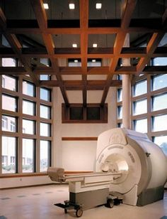 We have been to hundreds of MRI sties, but we have never seen tall ceilings like this in any other MRI scan room!
