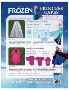 Disney Frozen DIY Princess Capes