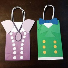 **The bags pictured in this listing were only a rough draft of the final project. I lost the picture of after they were glued together, and
