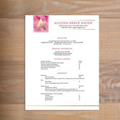 Delicate Lace Fully Formatted Sorority Resume Sorority Resumes