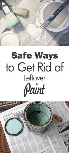 Safe Ways to Get Rid of Leftover Paint - 101 Days of Organization Life Hacks, Life Tips, Turquoise Bracelet, Rid, Mirrored Sunglasses, Gemstone Rings, Decluttering Ideas, How To Get, Organization