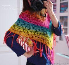 Poncho colorido para el verano, crochet