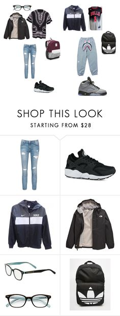 """""""random"""" by shiyanemcnab on Polyvore featuring Current/Elliott, NIKE, The North Face, Kate Spade, adidas and Victoria's Secret"""
