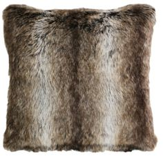 Chinchilla Faux Fur 18 x 18 pillow by Carstens Inc. from Kellsson Home Linens