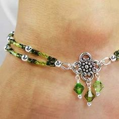 Find out our Anklets - Females coming from a great assortment at Bijou. Beaded Anklets, Beaded Jewelry, Jewelry Bracelets, Handmade Jewelry, Diy Jewelry, Jewellery, Sterling Silver Anklet, Ankle Jewelry, Anklet Bracelet