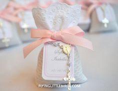 Christening Lavender Sachets - Girls Baptism Favors (set of 20 sachets). $150.00, via Etsy.: