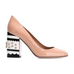 The New Party Shoes to Try Now   Red Valentino Chunky Heel Pumps