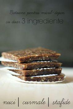 Batoane pentru micul-dejun, cu doar 3 ingrediente