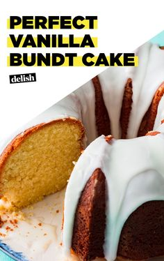 This Vanilla Bundt Cake Is One Of Our Test Kitchen's Proudest Achievements Cupcake Recipes, Baking Recipes, Dessert Recipes, Vanilla Bundt Cake Recipes, Dessert Ideas, Cake Ideas, Easy Desserts, Delicious Desserts, Yummy Food