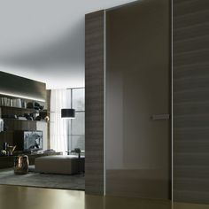 struttura alluminio e vetro laccato lucido caffè