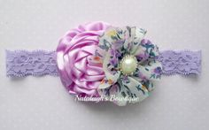 Lavender Headband  Baby Headband  Floral by NataleighsBowtique