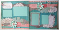 2 Page 12x12 Scrapbook Layout.