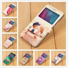 For Huawei GR5 Case Cover 2016 Cute Landscape Magnetic Stand Phone Cases For Huawei Honor 5X Case Flip Leather PU Honor 5X Cover