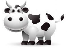 Illustration of cute cow cartoon vector art, clipart and stock vectors. Cow Vector, Vector Art, Cow Logo, Little Doodles, Cute Cows, Animal Decor, Cute Creatures, Baby Design, Vector Graphics