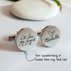 Personalized Cuff Links Handwriting CuffLinks for Dad Husband Signature Custom C. Personalized Cuff Links Handwriting CuffLinks for Dad Husband Signature Custom Cufflinks Groom Cuff links Wedding Gift f. Wedding Gifts For Groom, Wedding Vows, Dream Wedding, Groom Gifts, Wedding Gift To Husband, Perfect Wedding, Parent Gifts Wedding, Wedding Party Presents, Special Wedding Gifts