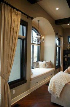 Bedroom window nook