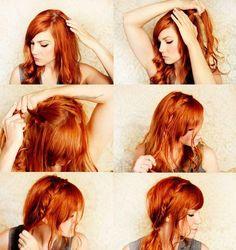 hair Hair The Undone Bun Hairstyle cool braid love her hair Pretty Hairstyles, Girl Hairstyles, Braided Hairstyles, Amazing Hairstyles, Style Hairstyle, Hollywood Hairstyles, Perfect Hairstyle, Spring Hairstyles, Quick Hairstyles