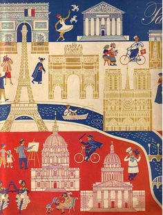 Paris, on the cover of the May 1948 issue of Holiday magazine  http://thevintagetraveler.wordpress.com/2012/02/21/paris-post-wwii/