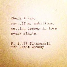 F. Scott Fitzgerald - Gatsby, my literary patronus