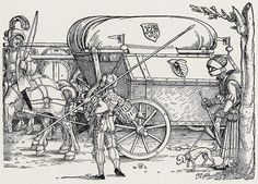 Artist: Beham, Hans Sebald, Title: »Heerestross«, Detail: Proviantwagen, Date: ca. 1530