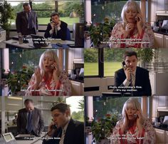 """When she was worried about her son on his first day at his new job. 31 Times Pam From """"Gavin And Stacey Was Genuinely Hilarious British Sitcoms, British Comedy, Cartoon Network Adventure Time, Adventure Time Anime, New Job Survival Kit, Gavin And Stacey, English Worksheets For Kids, Tv Quotes, Movie Quotes"""
