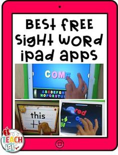 Best FREE Sight Word Apps & activities for kids to use on the iPad. Teachers, make learning sight words fun in your classroom by adding a technology twist! Also check out these engaging QR codes activities for your reading & literacy centers. Sight Word Apps, Sight Word Practice, Sight Word Activities, Word Games, Sight Word Wall, Sight Word Centers, Fry Sight Words, Spelling Activities, Kindergarten Reading