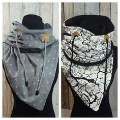"""In the context of this """"stupid"""" weather, the fleece-lined hooded scarf . Fabric Crafts, Sewing Crafts, Hooded Scarf Pattern, Sewing Scarves, Diy Accessoires, Diy Mode, Diy Fashion, Womens Fashion, Creation Couture"""