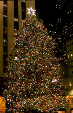 Rockefeller Center Christmas tree. One day I will see this magnificent tree! I love Christmas Trees!!