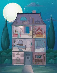 Izabela Ciesinska >3 I used to draw pictures of houses like this when I was a child...