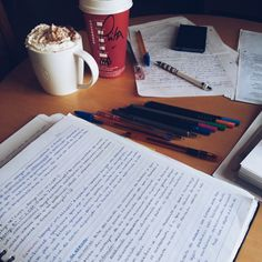 "notes-and-coffee: ""they ask me if i do this... - The Organised Student"