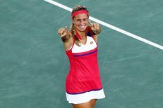 Monica Puig after Winning