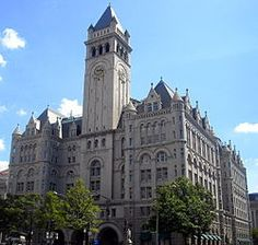 Old Post Office Pavillion, Washington DC  Old Post Office - Took the elevator to the top of the 315-foot tall clock tower and enjoyed a 360 degree view of downtown DC