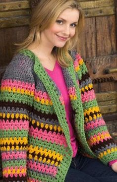 crochet cardigan from red heart
