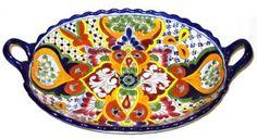 Talavera_Platters-Talavera Platter with Handles : Item #101557