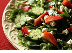 spinach strawberry salad. I have made this multiple times and it is one of the most delicious salads ever - seriously better than dessert.