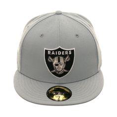 d18f58dbf72166 New Era 59Fifty Oakland Raiders Metal Thread Hat - Grey