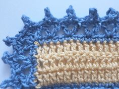 How to Crochet a Classic Granny Square Crochet Afghans, Crochet Baby Blanket Borders, Picot Crochet, Crochet Edging Patterns, Crochet Lace Edging, Granny Square Crochet Pattern, Crochet Borders, Baby Knitting Patterns, Free Crochet
