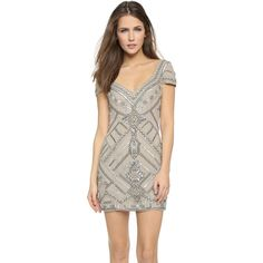 Parker Elijah Dress ($420) ❤ liked on Polyvore featuring dresses, silver, open back cocktail dress, sequin chiffon dress, beaded chiffon dress, chiffon dress and cap sleeve cocktail dress