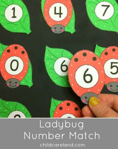 Ladybug Number Match Math Center for number recognition and sequencing.