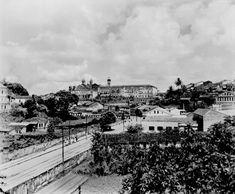 Vista da cidade alta de Salvador (BA) - mar. 1952 Salvador Ba, Paris Skyline, Old Photographs, Old Pictures, Brazil, Cities, Men's, El Salvador