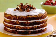 Brown Sugar Crunch Torte - best recipe ever if you make it with macadamia nuts