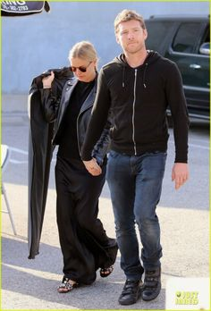 Sam Worthington and Lara Bingle doing some shopping at Maxfield in Los Angeles