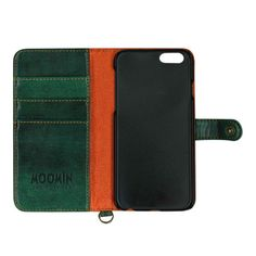 【【iPhone6 ケース】ムーミン イタリアンPU ブックスタイルケース(SF ホシ/GN)】イタリアンPUのブックスタイルiPhone case。 iPh…