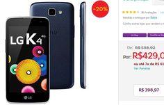 """Smartphone LG K4 8GB Dual Chip Tela de 4.5"""" 4G Android 5.1 Câmera 5MP << R$ 39897 >>"""