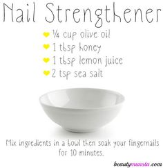 diy nail strengthener